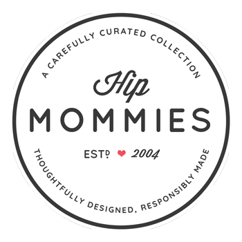 Hip Mommies Logo. Canadian Distributor for happy and healthy families.